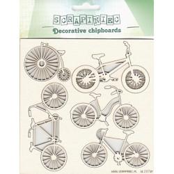 Jízdní kola - 5ks chipboards