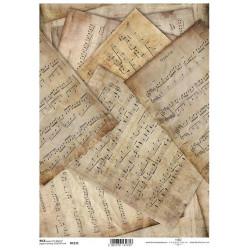 Papír rýžový A4 Notové zápisy vintage