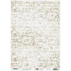Papír rýžový A4 Jenine, old sheet music (SL)