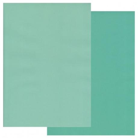 Sada 10ks pergamenových papírů DVA TÓNY, 150g, A4 – tyrkysová, světle tyrkysová