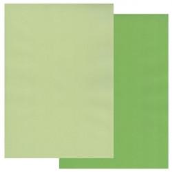 Sada 10ks pergamenových papírů DVA TÓNY, 140g, A4 – trávově zelená, vrbová zelená
