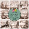 Sada kartiček 9x9cm - Vintage Zimní obrázky u jezera II (Dixi Craft)