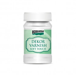 Decor Varnish Soft Touch 100ml sametový lak (Pentart)