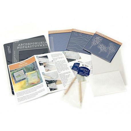 Groovi Plate Starter Kit Deluxe - startovací sada pro papírovou krajku