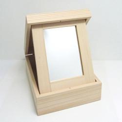 Toaletka obdélníková skládací se zrcadlem