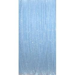 Stužka šifónová 3mm světle modrá, metr