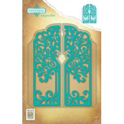 Vyřezávací šablony - otevírací, filigránový strom (Nellie´s Choice)