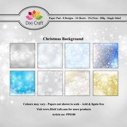 Sada papírů 15x15 Vánoční pozadí (Dixi Craft)