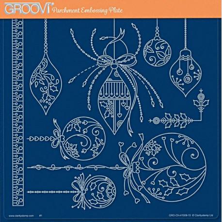 Akrylová deska - Vánoční baňky (GP)