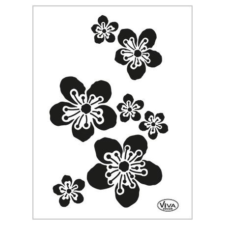 Šablona - Květy třešně, vel. A5