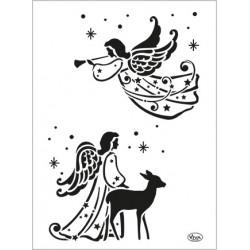 Šablona - Dva andělé, vel. A4