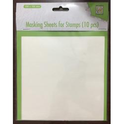 Maskovací papír pro razítkování, 10ks (Nellie´s Choice)