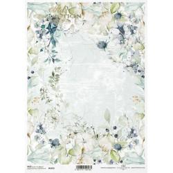 Papír rýžový A4 Zimní motiv s rostlinami