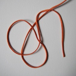 Semišová sňůra plochá 3mm - Orange