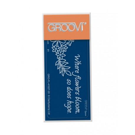 Akrylová destička - květinový oblouk (GP)