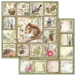 Forest, čtvercové obrázky 30,5x30,5 scrapbook