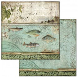 Forest, ryby 30,5x30,5 scrapbook