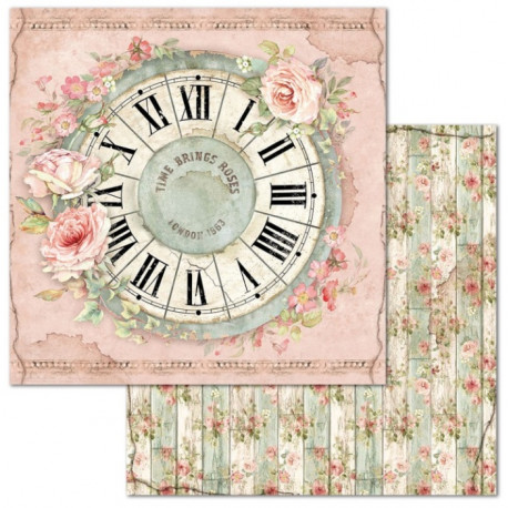 House Of Roses, hodiny 30,5x30,5 scrapbook