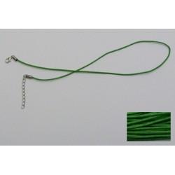Šňůrka bavl. s karabinkou 45cm zelená