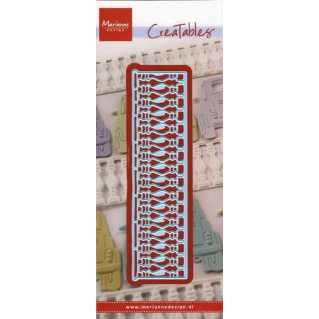 Vyřezávací šablona - balkónové zábradlí (MD)