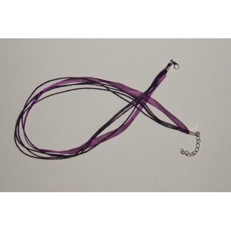 Stužka se zapínáním 45cm tmavě fialová