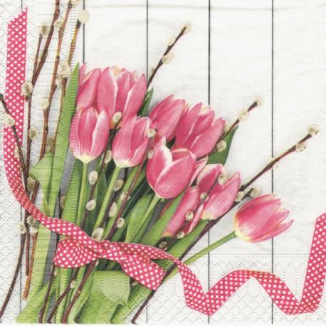 Tulipány a kočičky 33x33