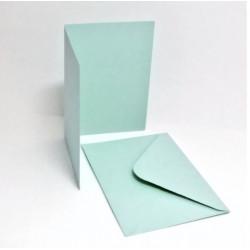 Přáníčko a obálka A6 pastelová modrá