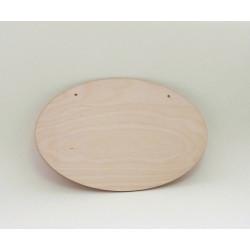 Destička dřevěný ovál s dvěma otvory, 27x18
