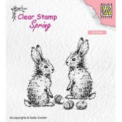 Transp.razítko Dva králíčci (Nellie Snellen)