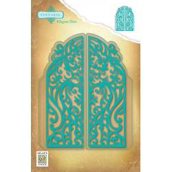 Vyřezávací šablony - filigránové dveře (Nellie´s Choice)