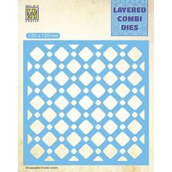 Vyřezávací šablona Layered Combi Dies - čtverce B