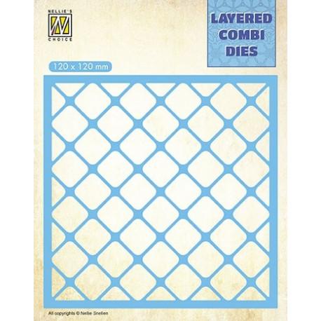 Vyřezávací šablona Layered Combi Dies - čtverce A