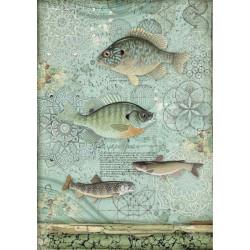 Papír rýžový A4 Forest, ryby