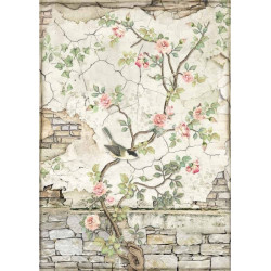 Papír rýžový A4 House of Roses, ptáček na větvičce