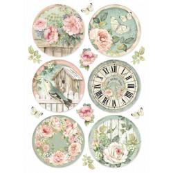 Papír rýžový A4 House of Roses, 6 kulatých obrázků
