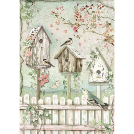 Papír rýžový A4 House of Roses, ptačí budky