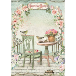 Papír rýžový A4 House of Roses, na terase