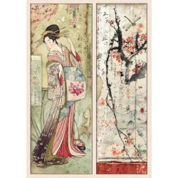 Papír rýžový A4 Oriental Garden, gejša