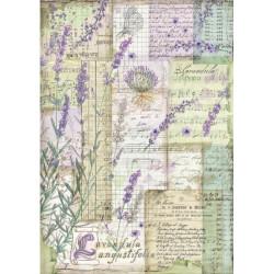 Papír rýžový A4 Provence, levandulová fantazie