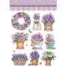 Papír rýžový A4 Provence, levandulové kytice