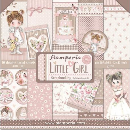 Sada papírů 30,5x30,5 190g Little Girl