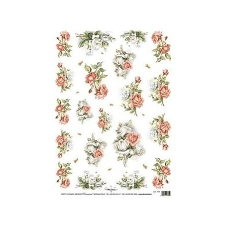 Papír rýžový 35x50 Růžičky