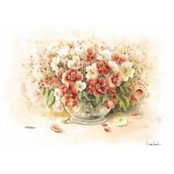 Papír rýžový 35x50 Květy ve váze (5196)