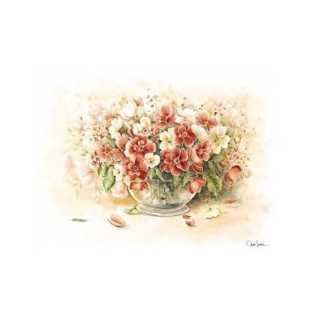 Papír rýžový 35x50 Květy ve váze