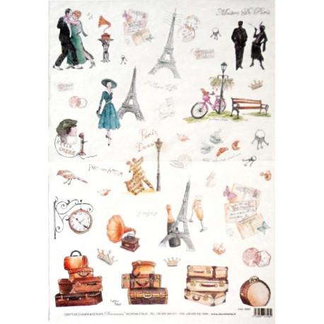 Papír rýžový 35x50 Maison De Paris