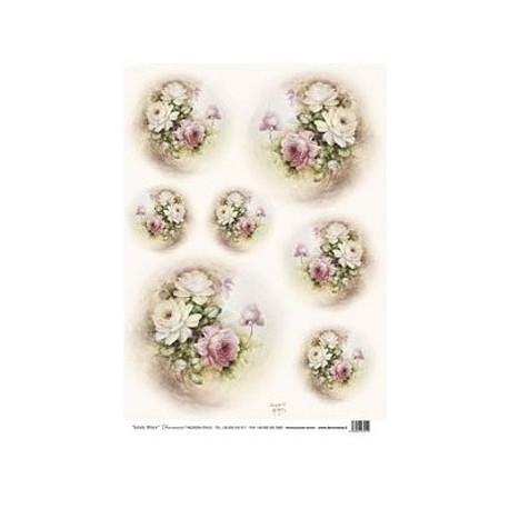 Papír rýžový 35x50 Ovál růže