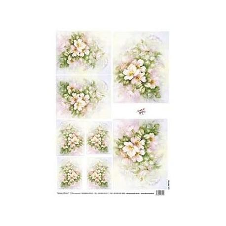 Papír rýžový 35x50 Šípková růže