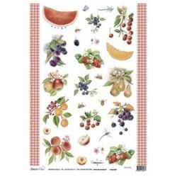 Papír rýžový 35x50 Ovoce