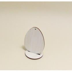Dřev.dekorace - vajíčko s podstavcem (vel.1)