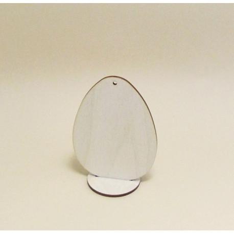 Dřev.dekorace - vajíčko s podstavcem (vel.2)